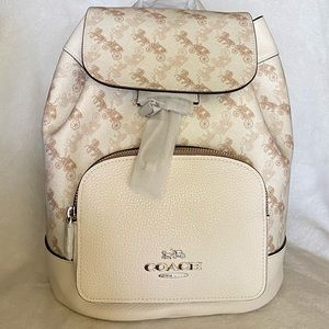 🆕Coach Jes Backpack With Horse And Carriage Print